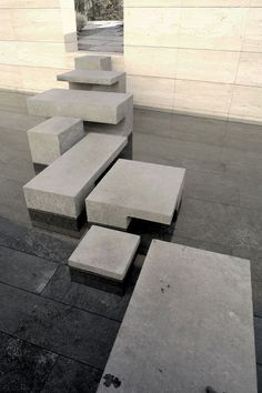 "Abstract way of looking at stairs, kind of a ""rock garden"" Don't be tied into the traditional idea of stairs"
