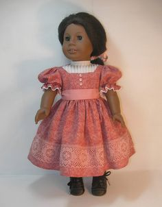 This dress is similar in style to Addys plaid tartan Christmas dress. This version has a white yoke with tiny tucks. Instead of taffeta, I used a