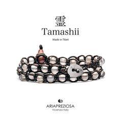 Tamashii - Bracciale Lungo Tradizionale Tibetano 2 giri Agata Ghiaccio