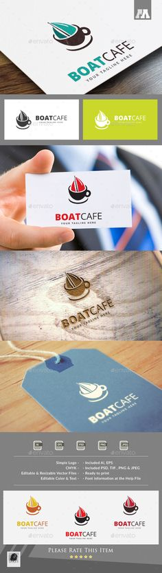 Boat Cafe Logo - Download…