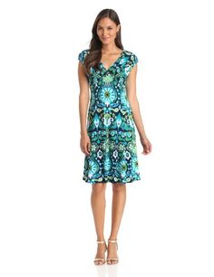 Jones New York Women's Texture Floral Short Dress Now for 40.37. Printed matte jersey short 40's dress 95% Polyester5% Elastane. Dry Clean Only. V-neck. Cap sleeve. This jersey dress is wrapped in a bold floral-inspired print.. Made in Vietnam