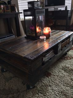 A pallet coffee table