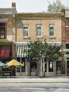 25th Street by Joseph Alleman Watercolor ~  featured artist, Jackspn Hole