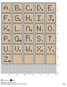 Scrabble Magnets by JODY