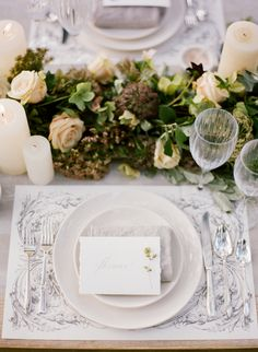 elegant outdoor reception tables
