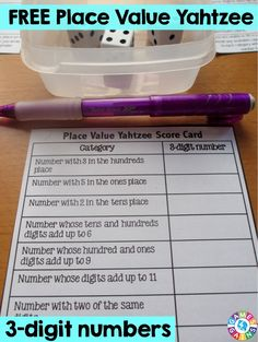 Score Some Points with Place Value Yahtzee!