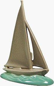 Poole Twintone - sailing ship
