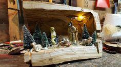 Presepe scavato nel legno