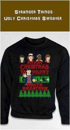 d28e113eb Ugly Christmas Sweater Gifts For Stranger Things Fans Holiday Jumper Xmas  Pullover Christmas Present Hoodie Crewneck