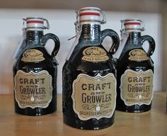 Craft and Growler's selection of beer containers includes this hand-crafted ceramic jug. Photo by Teresa Gubbins