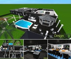 A modern black house made with Home Design 3D interior design application. See the gallery: http://www.homedesign3d.net/EN/galleries/29701