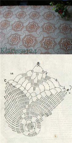 Transcendent Crochet a Solid Granny Square Ideas. Inconceivable Crochet a Solid Granny Square Ideas. Crochet Bedspread Pattern, Crochet Doily Diagram, Crochet Curtains, Crochet Motifs, Granny Square Crochet Pattern, Crochet Tablecloth, Crochet Stitches Patterns, Crochet Chart, Crochet Squares
