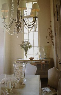 Alternate view of coastal glam dining room in Rosemary Beach, FL designed by Susan Ferrier. Photo by Jean Allsopp.