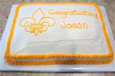 Eagle Scout Cake / scouting taart