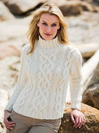 Free Knitting Pattern - Women's Sweaters: Sterling Cables Sweater ...