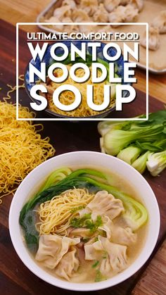Wonton Noodle Soup Recipe & Video - Seonkyoung Longest - Wonton Noodle Soup Recipe and Video The Effective Pictures We Offer You About meal prep recipes A - Wonton Noodle Soup, Wonton Noodles, Egg Noodles, Chinese Noodle Soup Recipe, Wonton Soup Broth, Chinese Chicken Noodle Soup, Pork Noodle Soup, Thai Noodle Soups, Chinese Soup Recipes