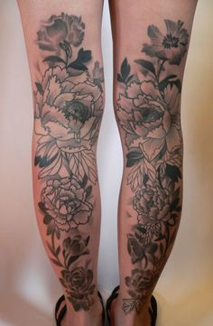 Floral-Back-of-Legs-Tattoos-For-Women