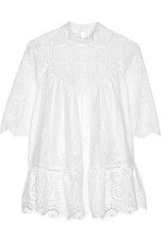 Zimmermann Epoque broderie anglaise cotton top
