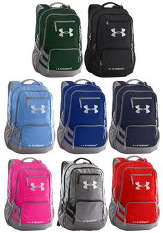 Under Armour Hustle Team Backpack II - Soft, tricot lined laptop sleeve  that holds up to a laptop. Customization available. 4609064368