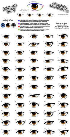 Anime eye styles by PinkFireFly on DeviantArt