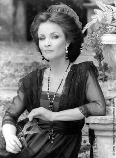 1981:  Kate O'Mara in costume for her role as Beatrice