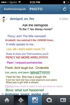 So funny!!!!!!!! Why would Percy like The Little Mermaid?
