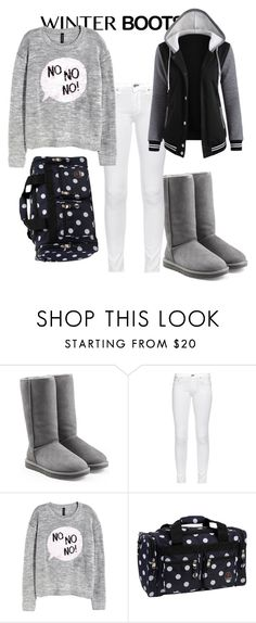 """""""Sooo cozy.."""" by rosey135 ❤ liked on Polyvore featuring UGG Australia, rag & bone, H&M and Rockland Luggage"""