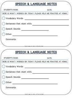 68 best Speech Therapy Documentation images on Pinterest | Speech ...
