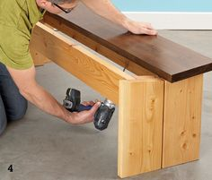 Build your own wooden kitchen table and benches