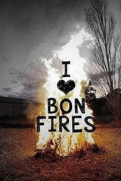 I'm so ready for fall and bonfires!