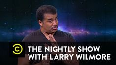 """The Nightly Show - Neil deGrasse Tyson Slams Flat-Earth Theorist B.o.B.  """"This whole thing is just a symptom of a lager problem. There is a growing anti-intellectual strain in this country that may be the beginning of the end of our informed democracy."""" Bam!"""
