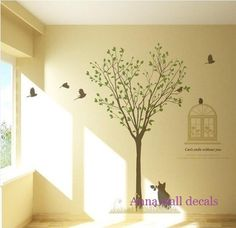 under the tree Vinyl Wall Decal Sticker Nature by annaandnana, $72.00