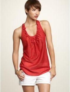 Print crochet necklace top | Gap - StyleSays
