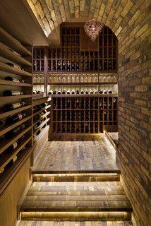 Los Altos Hills Fun Basement - Rustic - Wine Cellar - san francisco - by Allwood Construction Inc