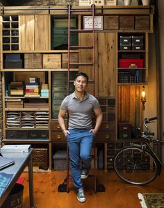 Bradley Darryl Wong's apartament at East Fourth Street - NY designed by Jack Wettling