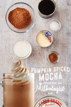 Celebrate fall with our delicious Pumpkin Spiced Mocha. Whisk one can of Eagle Brand® Sweetened Condensed Milk, ¼ cup unsweetened cocoa powder and ¾ tsp of pumpkin pie spice together until blended. Stir in two cups of milk and three cups of your favorite, strong brewed coffee and heat to your ideal temperature. Top with whipped cream and sprinkle with extra pumpkin pie spice. Cozy up with your favorite scarf and take in the season.