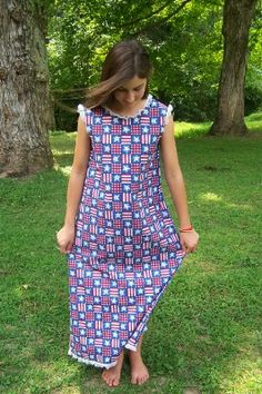 Cute summer nightgown for little girls. Site is actually a modest clothing site, so there's some clothes that are really funny, but the nightgown is cute!