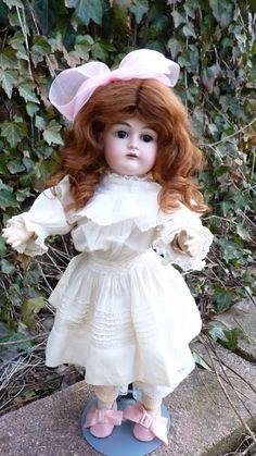 Delightful & very precious old Antique bisque head doll by J.D. Kestner- Kestner 167 Doll