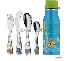 WMF - zestaw 5cz. sztućców dla dzieci Nemo z butelką