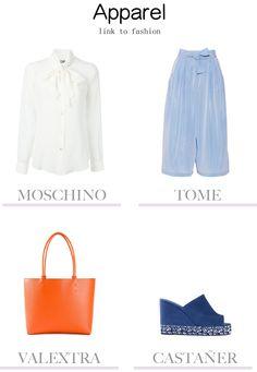 Apparel - White, Light Blue, Orange, Blue