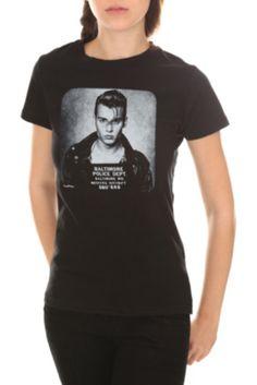 Cry-Baby Mugshot Girls T-Shirt $14.99