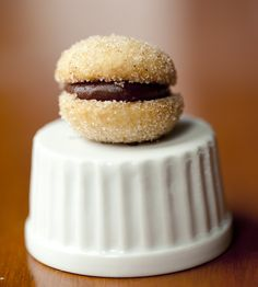 Tiny Chocolate Hazelnut Thumb Sandwich Cookies by Thumbs Cookies Inc. Mini sandwich cookies that'll melt in your mouth.
