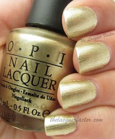OPI Golden waves / Sand on my own feet - Too Haute To Handle Collection