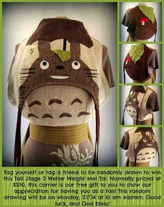 Obimama my neighbor totoro baby carrier, amazing!!!!!