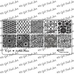 IG103 Nail Art Stamping Plate by ItGirlNailArt on Etsy