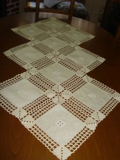 One of the most beautiful crochet works I have ever seen. Crochet Motifs, Crochet Potholders, Crochet Borders, Crochet Granny, Filet Crochet, Crochet Doilies, Crochet Stitches, Crochet Patterns, Diy Crafts Knitting
