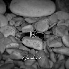 The Original Frenchie sterling silver white  gold-plated bracelet #thefrenchietaste #frenchbulldog #jewellery #fashion #accessories