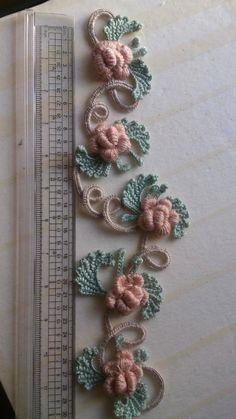Irish Crochet Patterns, Crochet Motifs, Form Crochet, Crochet Designs, Hand Embroidery Flowers, Hand Embroidery Tutorial, Hand Embroidery Designs, Crochet Bookmark Pattern, Crochet Bookmarks