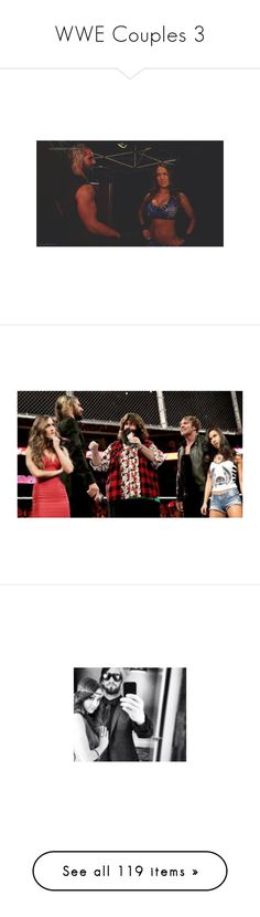 """""""WWE Couples 3"""" by thedarkestofhearts ❤ liked on Polyvore featuring manip, wwe, wwe couples, manips, dean ambrose, paige, misc and accessories"""