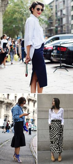 Skirts + button downs
